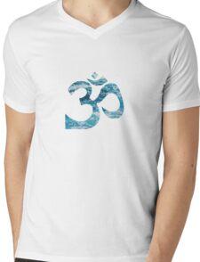 Ohm Ocean Blue Mens V-Neck T-Shirt