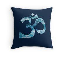 Ohm Ocean Blue Throw Pillow