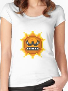 Mario Angry Sun Women's Fitted Scoop T-Shirt