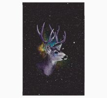 HIPSTER TEES - SPACE DEER by cheapside