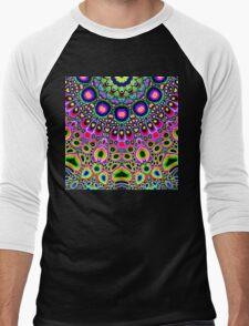 Bright Colorful Abstract Shapes Men's Baseball ¾ T-Shirt