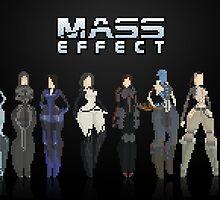 Mass Effect 8Bit Lineup by izaksmells