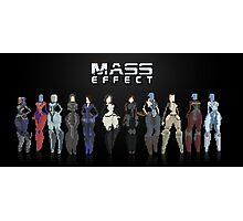 Mass Effect 8Bit Lineup Photographic Print