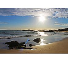 Sun going down at Birubi Beach Photographic Print