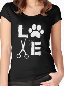 Dog Grooming Love  Women's Fitted Scoop T-Shirt