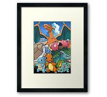 Pokémon 2 evolutions Framed Print