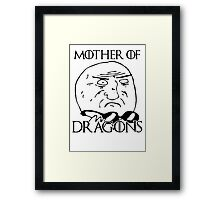 Game of Thrones - Mother of Dragons Framed Print