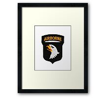 101st Airborne Patch -  iPad Case Framed Print