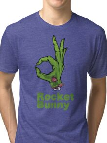 rocket bunny zombie Tri-blend T-Shirt
