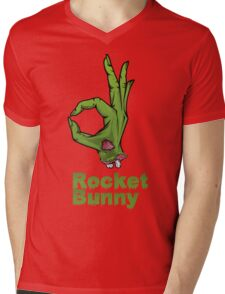 rocket bunny zombie Mens V-Neck T-Shirt