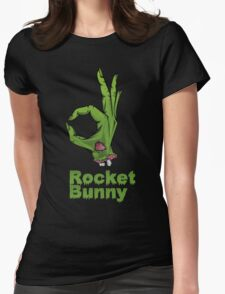 rocket bunny zombie Womens Fitted T-Shirt