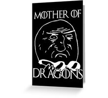 Game of Thrones - Mother of Dragons - Black Greeting Card