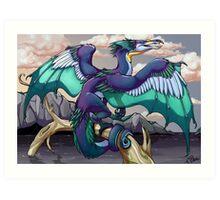 Cormorant Dragon Art Print