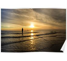 Sunset at Crosby Beach Poster
