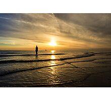 Sunset at Crosby Beach Photographic Print
