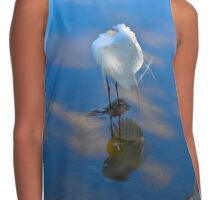Reflections Blue Heron Contrast Tank