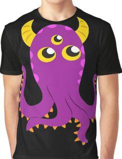 Purple Squid Monster Thing Graphic T-Shirt