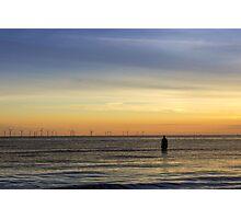 Windfarm at sunset Photographic Print