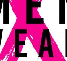 Real Men Wear PINK - Mens Breast Cancer Sticker