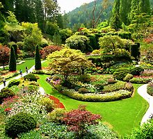 Glorious Butchart Gardens in May by AnnDixon