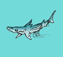 Lemon shark by Claire Hawken