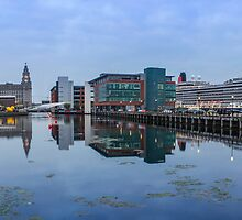 Princes dock and Queen Victoria by Paul Madden
