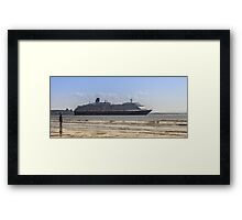 Queen Victoria from Crosby Beach Framed Print