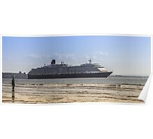 Queen Victoria from Crosby Beach Poster