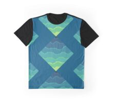 Pixel Waves Graphic T-Shirt
