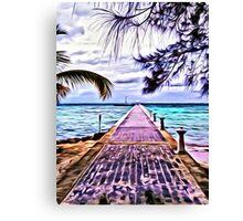 Rum Point Dock Cayman Islands Canvas Print