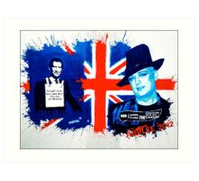 The future King and Queen of England? Art Print