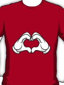 Mickey Hands Heart Love T-Shirt