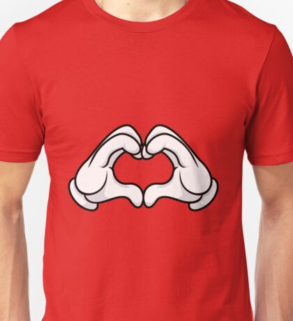 Mickey Hands Heart Love Unisex T-Shirt