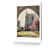 Through the Arch: Duke Chapel Greeting Card