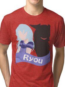YuGiOh Hikaris and Yamis Bakura version Tri-blend T-Shirt