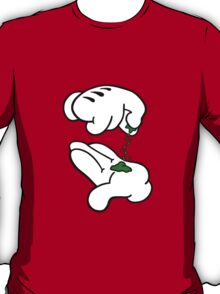 Mickey Hands Weed T-Shirt
