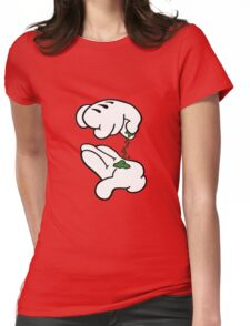 Mickey Hands Weed Womens Fitted T-Shirt