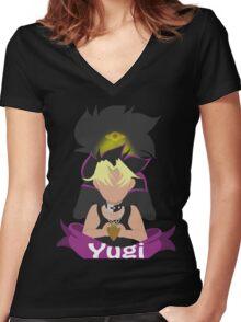 YuGiOh Hikaris and Yamis Yugi version Women's Fitted V-Neck T-Shirt