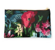Garden flowers, poppy, colorful, jungle, color, gardening, jungle, rainforest, beautiful, summer Studio Pouch