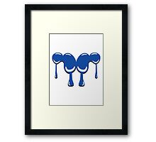 Blobs patch art Framed Print