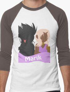 YuGiOh Hikaris and Yamis Marik version Men's Baseball ¾ T-Shirt