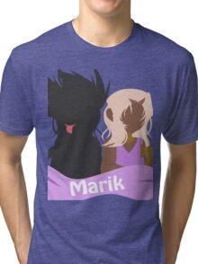 YuGiOh Hikaris and Yamis Marik version Tri-blend T-Shirt