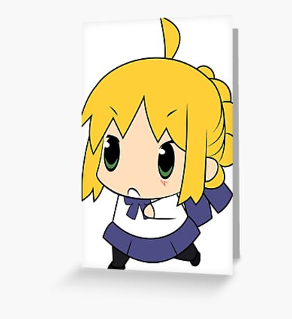 Chibi Saber Greeting Card