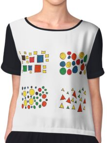 Colours and shapes Women's Chiffon Top