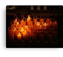 Candles Of Hope Canvas Print