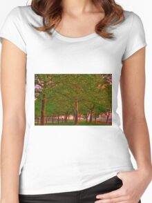 Seabrook Road Treeline at Dawn Women's Fitted Scoop T-Shirt