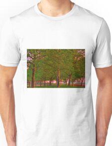Seabrook Road Treeline at Dawn Unisex T-Shirt