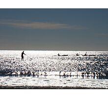 Paddlers On The Sunshine Coast  Photographic Print