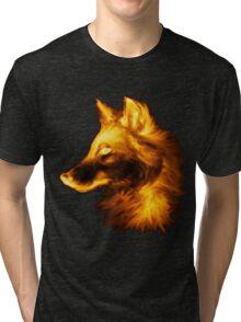 Gold wolf Tri-blend T-Shirt