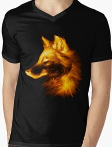 Gold wolf Mens V-Neck T-Shirt